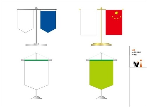 vi u0026amp ci design table flag vector