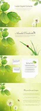 vibrant foliage theme vector