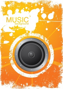 music background grunge decor speaker sketch