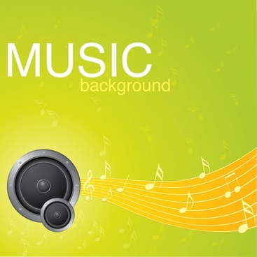 music background modern dynamic notes speakers decor