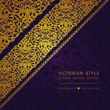 victorian ornate floral pattern background vector