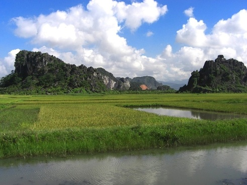 vietnam landscape sky