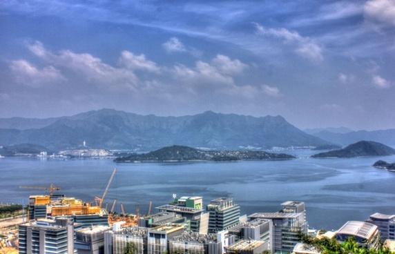 view from cuhk in hong kong china
