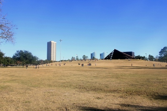 view from hermann park in houston texas