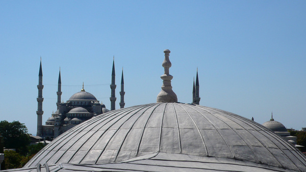 view from the hagia sophia