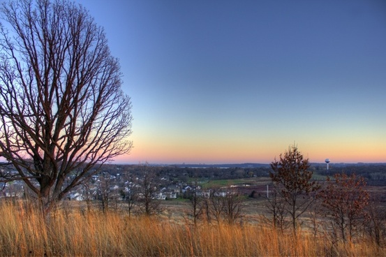 view from the hill in madison wisconsin
