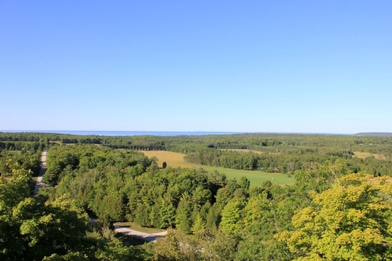 view from tower on washington island wisconsin