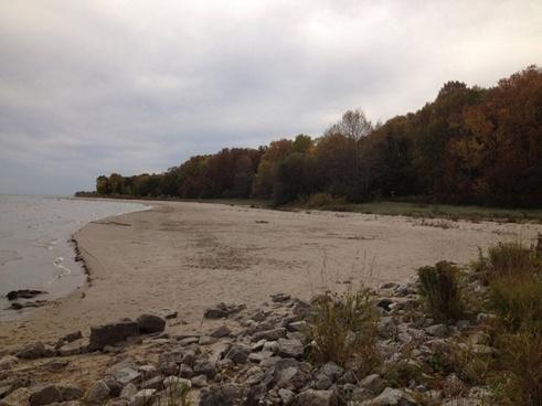 view of lake michigan from beach