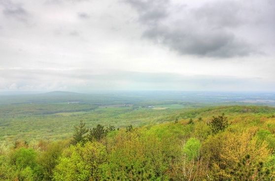 view of mountain summit at rib mountain state park wisconsin