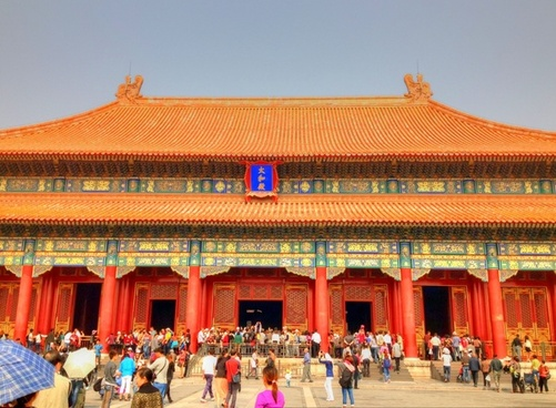 view of the main hall in beijing china