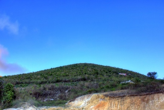 view of the mountaintop from the bottom near haiti baptist mission