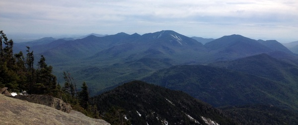 view of the other high peaks in the adirondack mountains new york