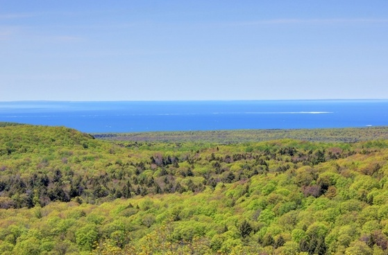 viewing superior from the lookout at porcupine mountains state park michigan