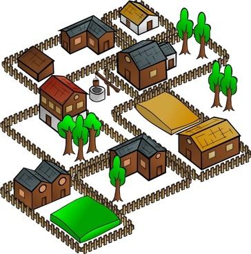 Village clip art
