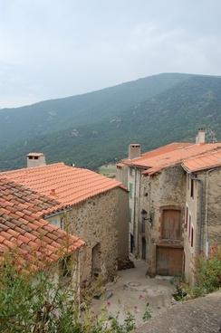 village houses mountain