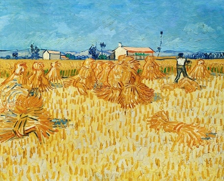 vincent van gogh harvest straw