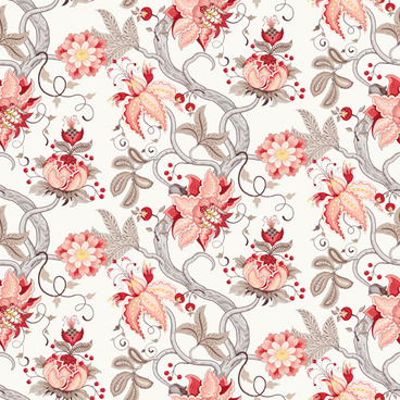vine with flower seamless pattern vector