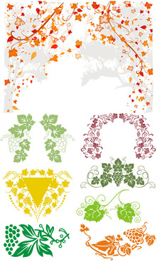 vines frame floral vector