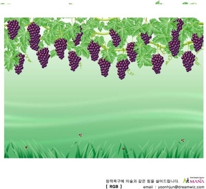 grapes background colored realistic style decoration