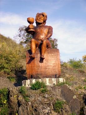vineyard bacchus sculpture