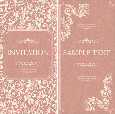 Birthday Invitation Card Pink Background Free Vector