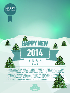 vintage14 new year holiday backgrounds vector set