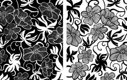 vintage art deco floral vectors