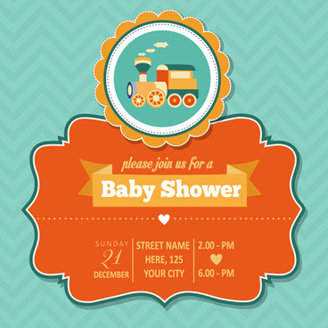 vintage baby shower invitation cards vector