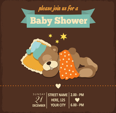 Baby shower invitation cards free vector download 13676 free vintage baby shower invitation cards vector stopboris