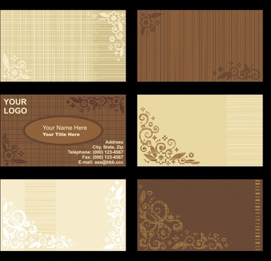 vintage background card template vector