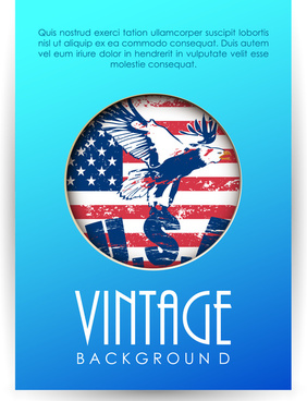 vintage background design with usa symbol