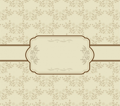 vintage background seamless flowers decoration classical frame design