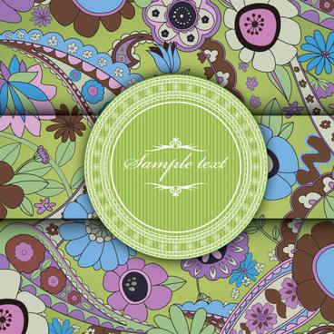 vintage background with decoration floral vector