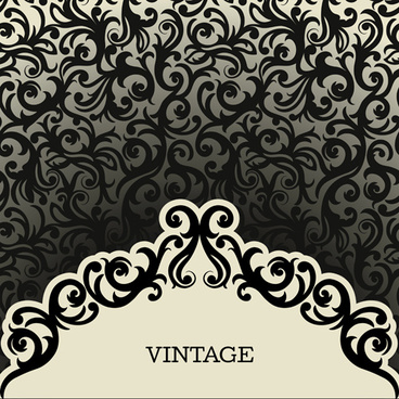 vintage background with decoration pattern vector