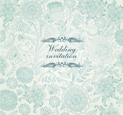 vintage backgrounds with floral vector graphic