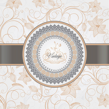 vintage backgrounds with luxurious floral vector