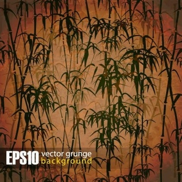 vintage bamboo forest background vector