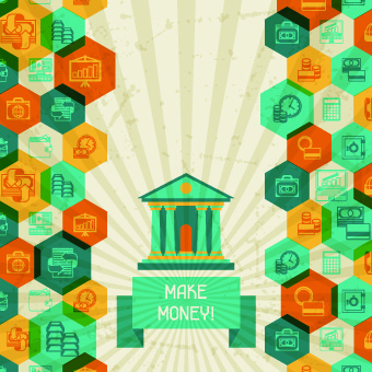 vintage banking and finance design vector