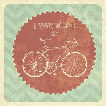 vintage bicycle poster vectors