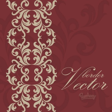 vintage bordeaux background with victorian floral elements