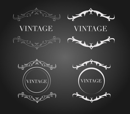 vintage border decor graphics
