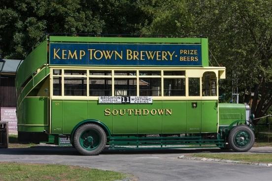 vintage bus bus old