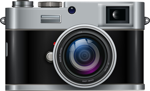 vintage camera design illustration vector