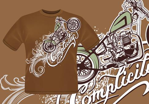 vintage car elements t shirt design vector