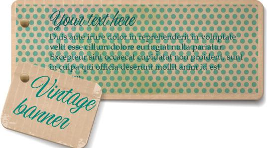vintage cardboard banners vector set