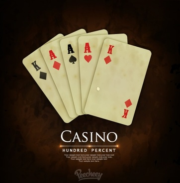 vintage casino cover playing card