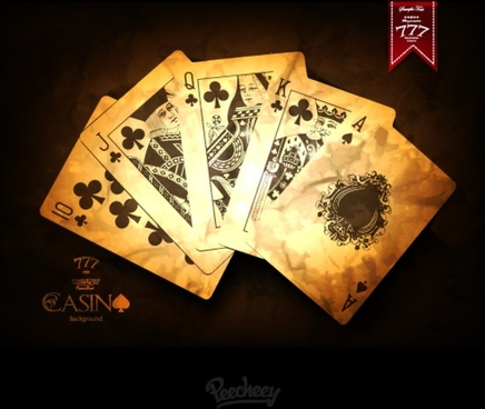 vintage casino playing cards poster
