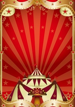 vintage circus background vector graphic