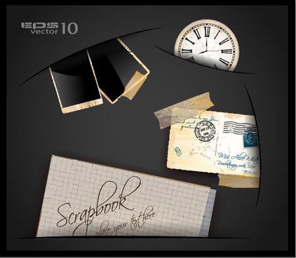 vintage class mail vector set