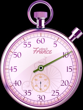 vintage clock background shiny violet decor